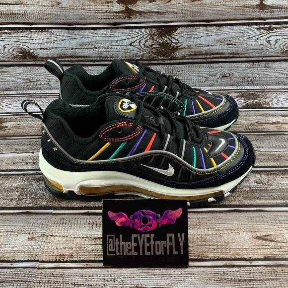 Nike Shoes   New Air Max 98 Gs Black